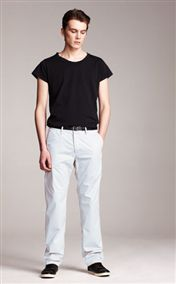 acne pop chinos dusty blue