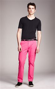 acne pop chinos pink